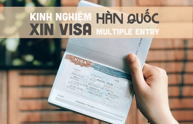 Cách xin visa Mulitple Hàn Quốc dễ không tưởng