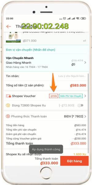 Kinh nghiệm săn mã giảm giá Shopee theo khung giờ